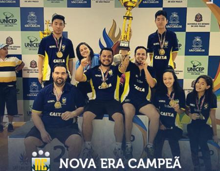 Nova Era faz bonito e é campeã geral dos Jogos Regionais em São Carlos.