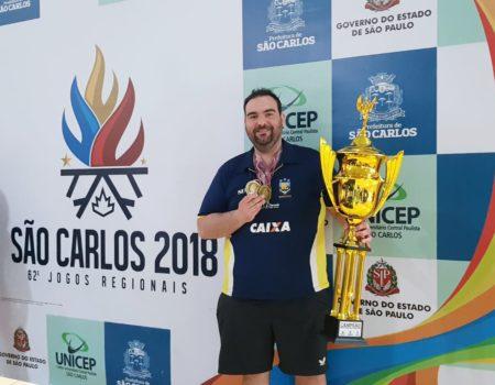 Representando Bauru, Cláudio Massad vai em busca de mais um título nos Jogos Regionais