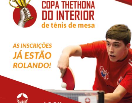 Organizadora de eventos TheThona realiza a primeira etapa da Copa TheThona do Interior de tênis de mesa.