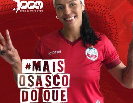 Ela voltou! Paula Pequeno é anunciada como grande reforço do Osasco Voleibol Clube.