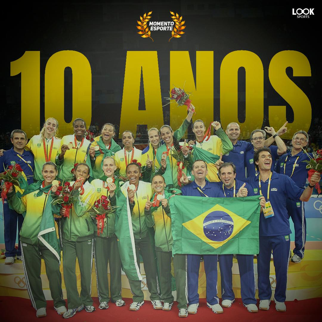 E o  MomentoEsporte de hoje não poderia ser outro  10 anos do ouro Olímpico  da Seleção Brasileira feminina de vôlei! No dia 23 de agosto de 2008 4582d51d03781